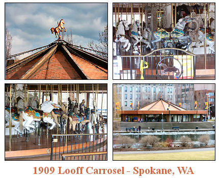 Gallery Image of  the 1909 Looff Carrousel in Spokane, WA.
