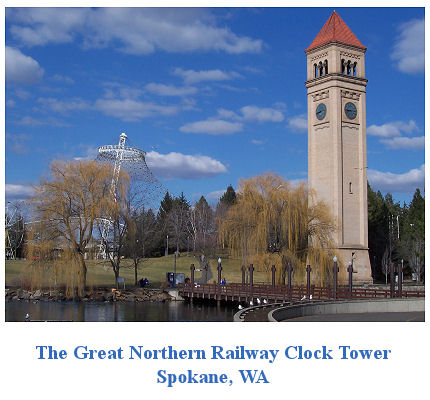 Gallery Image of  the Great Northern Railway Clock Tower in Spokane, WA.